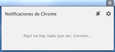 Campana notificación Chrome