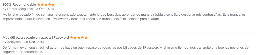 A salvo con 1Password Reviews