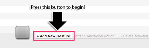Add new gesture - Better Touch Tool