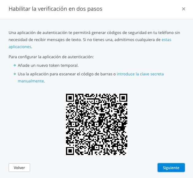 Dropbox escanear QR