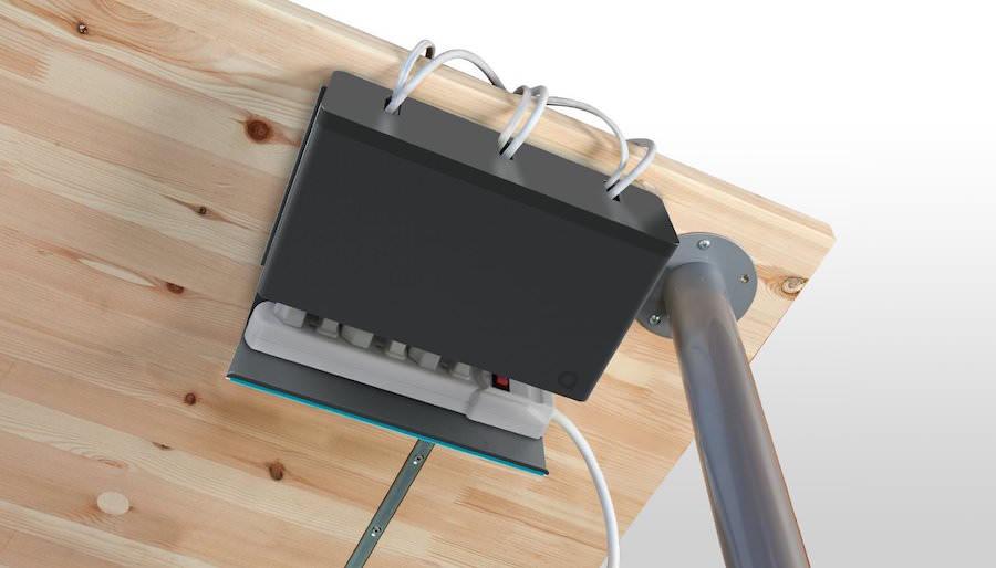 Quirky - Organizador de cables para debajo del escritorio