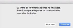 limite transacciones