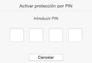 protección pin