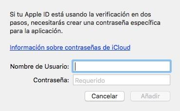 Cómo añadir una cuenta de iCloud en Fantastical