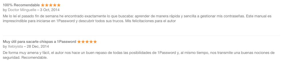 A salvo con 1Password Reviews