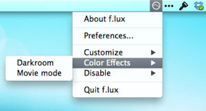 f.lux preferencias rápidas 02 - color effects
