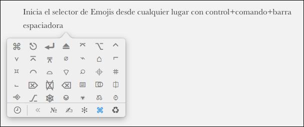 Atajo de teclado Emoji