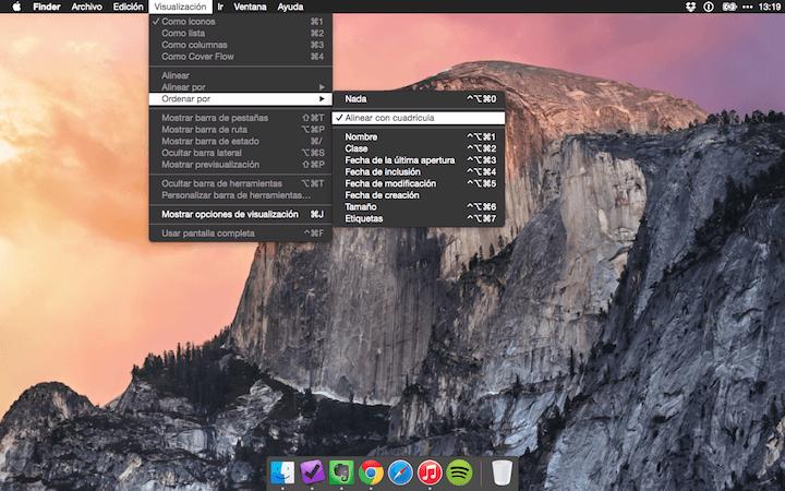 Tema oscuro Yosemite