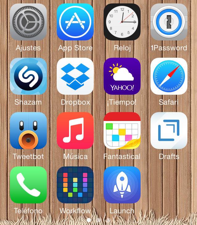 Mi homescreen resto de aplicaciones mayo 2015