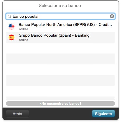buscar banco MoneyWiz