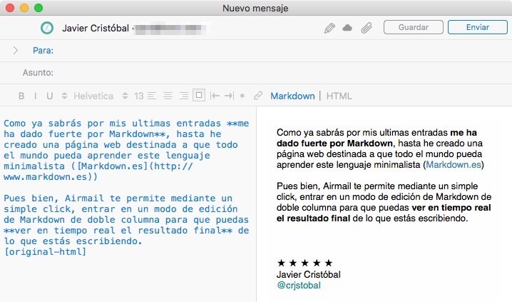 Airmail Markdown