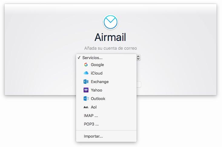 Airmail cuentas