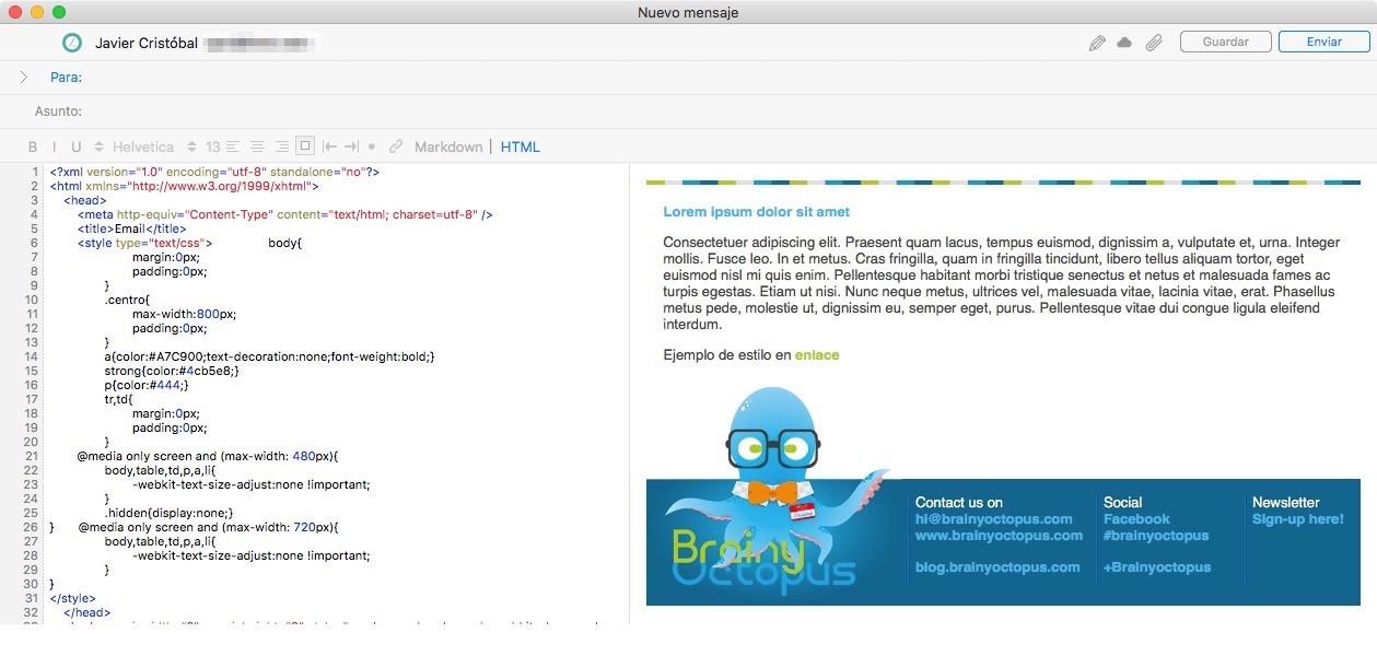 Plantilla HTML
